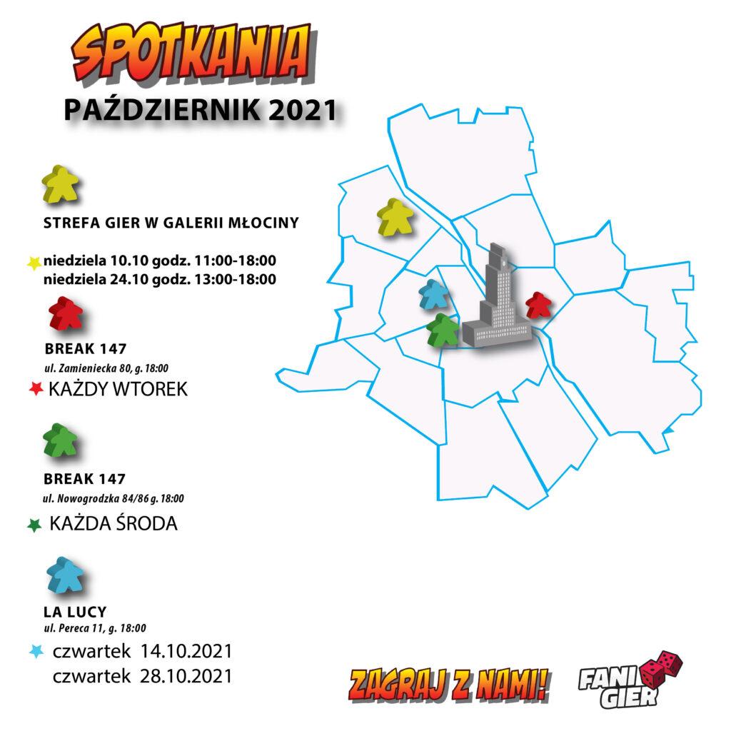 spotkania gry planszowe październik 2021